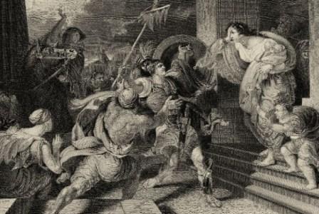 Φανταστική απεικόνιση της αναγγελίας της νίκης στο Μαραθώνα από τον Φειδιππίδη