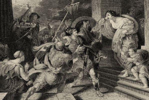 Φανταστική απεικόνιση της αναγγελίας της νίκης από τον Φειδιππίδη.