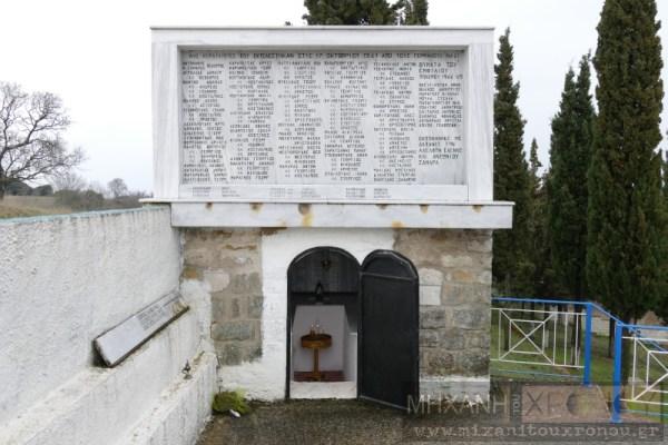 Το μνημείο των εκτελεσθέντων στα Άνω Κερδύλια