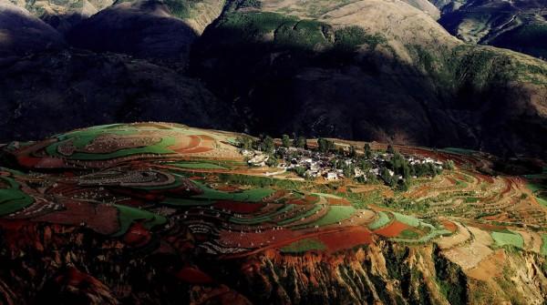 Sunset-at-Luo-Xia-Valley-Dongchuan-Yunnan
