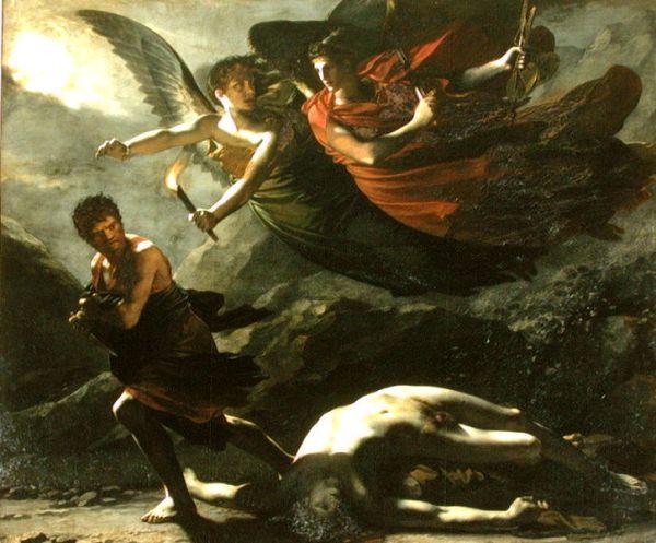 Η Δικαιοσύνη και η Δίκη κυνηγούν το έγκλημα, 1808 Rierre Paul Prudhon. Η Θέμις στην ελληνική μυθολογία έχει τρεις ιδιότητες. Είναι η θεά της φυσικής τάξης, θεά της ηθικής τάξης και προφήτης θεά