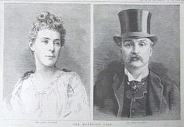 Η Φλόρενς Μέιμπρικ με τον σύζυγο της. Ο Μέιμπρικ κρίθηκε ένοχη και καταδικάστηκε σε θάνατο αλλά μετά τη δημόσια κατακραυγή η ποινή της μετριάστηκε σε ισόβια