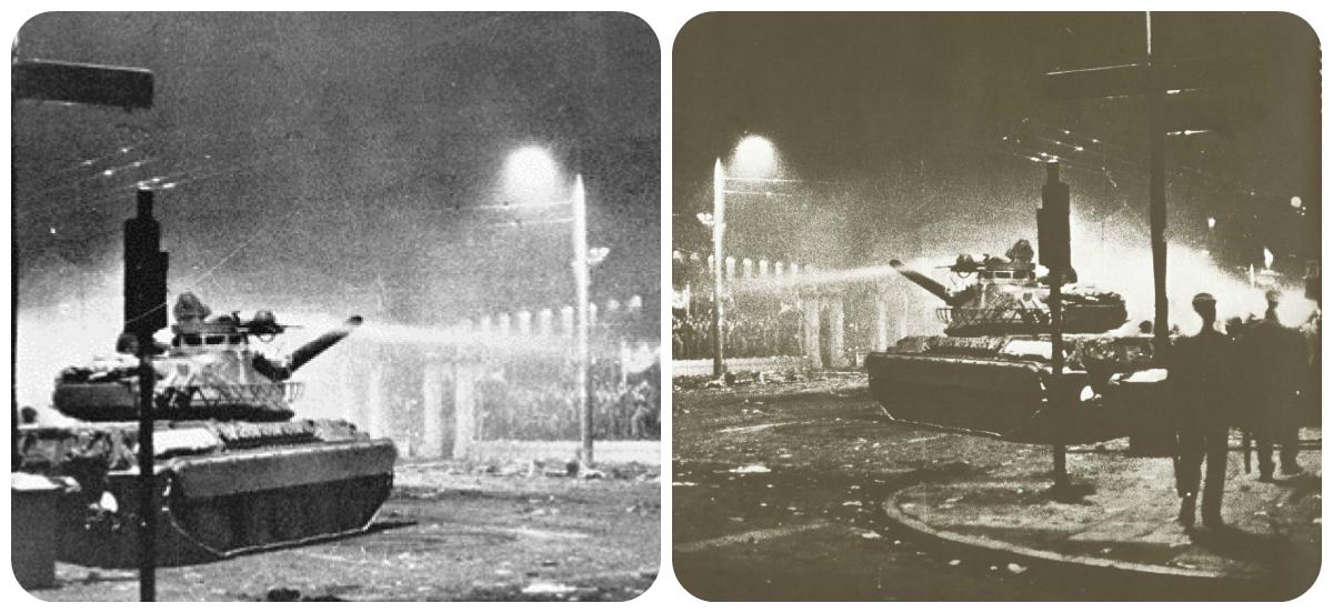 «Πώς είναι δυνατόν να πυροβολήσετε τα αδέρφια σας, να χυθεί ελληνικό αίμα;» 17 Νοεμβρίου 1973. Το τανκ της ντροπής ρίχνει την πύλη του Πολυτεχνείου. Χιλιάδες διαδηλωτές συλλαμβάνονται. Δεκάδες σκοτώνονται
