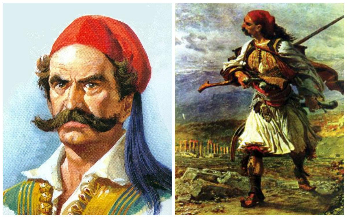 """""""Καπετάν Ανδρίτσος"""". Ο πατέρας του Οδυσσέα Ανδρούτσου έγινε κλέφτης όταν σκότωσε τούρκο μπέη. Τον στραγγάλισαν οι Τούρκοι και τον πέταξαν στο Βόσπορο"""