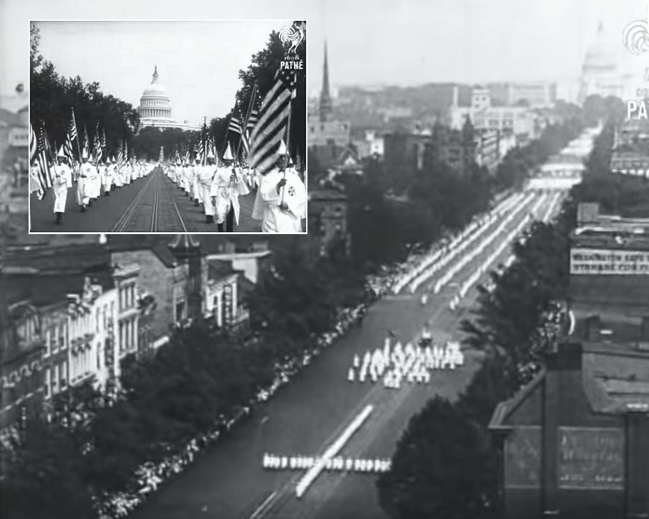 40.000 μέλη της Κου Κλουξ Κλαν παρελαύνουν στην κεντρική λεωφόρο της Ουάσινγκτον. Η μεγαλύτερη επίδειξη δύναμης στην ιστορία της ρατσιστικής οργάνωσης (βίντεο)
