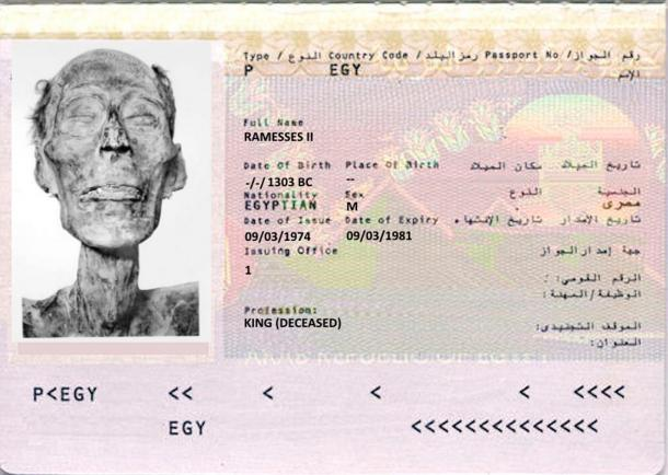 """""""Όνομα: Ραμσής. Επάγγελμα: Αυτοκράτορας"""". Δεν είναι αστείο. Οι Αιγύπτιοι έβγαλαν ταυτότητα στη μούμια του Φαραώ για να ταξιδέψει στη Γαλλία"""