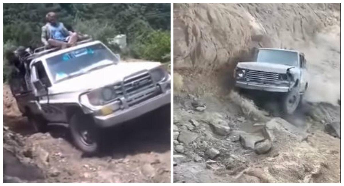 Ο γκρεμός που διεκδικεί να ονομαστεί δρόμος. Βρίσκεται στην Υεμένη και οι ριψοκίνδυνοι οδηγοί αγωνίζονται να μην πέσουν στο κενό (βίντεο)