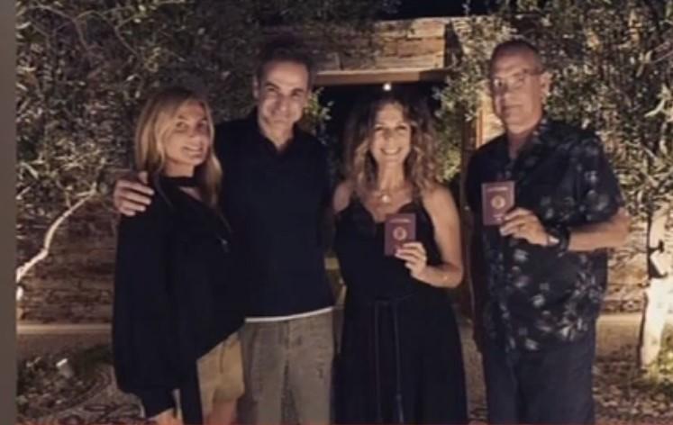 Δείπνο για το ζεύγος Μητσοτάκη στην Αντίπαρο με Τζεφ Μπέζος, Κούπερ, Ντίλερ και Τομ Χανκς- Τι συζήτησαν