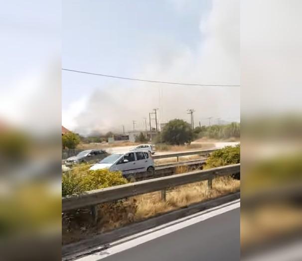 Φωτιά στο Μαρκόπουλο Αττικής. 6 πυροσβεστικά και 2 αεροσκάφη επιχειρούν στο σημείο