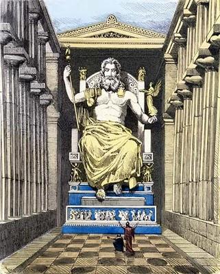statuia lui zeus din olimp
