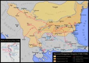 Asanestii, epopeea primilor vlahi ce s-au luptat cu Imperiul Bizantin-harta