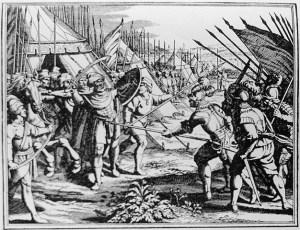 Uciderea-lui-Mihai-Viteazul-la-Turda-gravura-realizata-la-Leiden-Olanda-1703