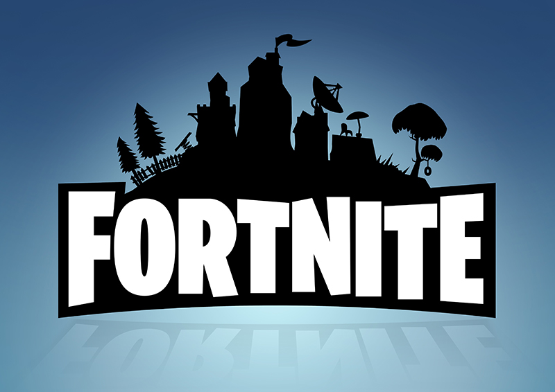 Fortnite Logo Wall Poster Mixed Design Large Poster