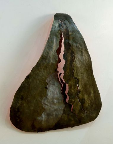 11 al heilman inner spirit 26x20x5 steel with acrylic and patina