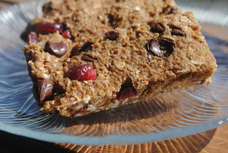 Cranberry & Chocolate Quinoa Granola Bars