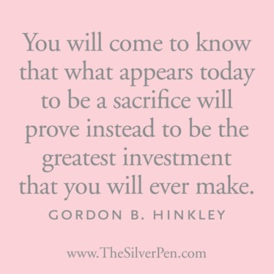Sacrifice {Treadmill Tuesdays – Week 17}
