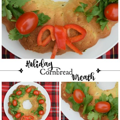 Homemade Cornbread Wreath for the Holidays