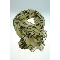 Scarf with peace signs - Green - La Finesse - Webshop ...