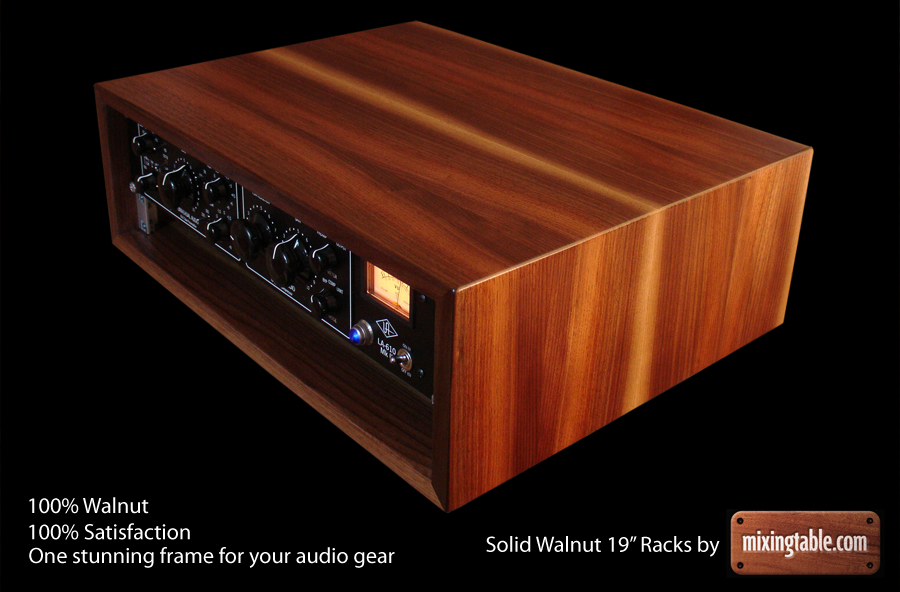 19 inch walnut racks for audio gear by mixingtablecom