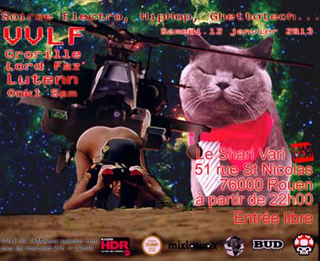 VVLF (Grorille, Lord Faz, Lutenn) soiree Electro Hip Hop Ghettotech Le Shari Vari Rouen samedi 12 janvier 2012