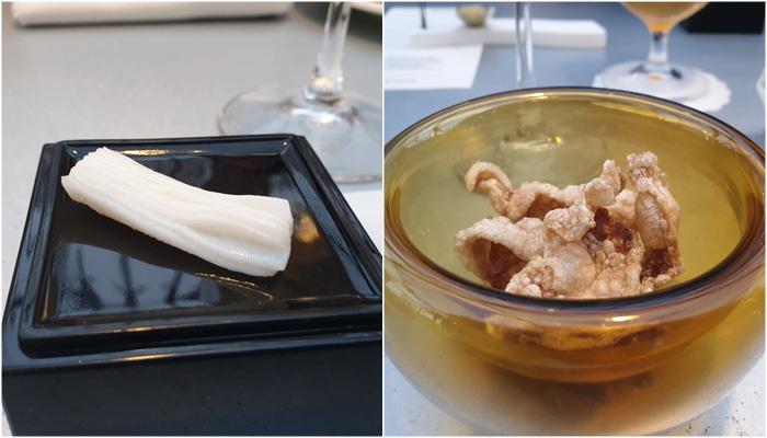 Restaurante Monastrell Calamar ibérico y crujiente ibérico