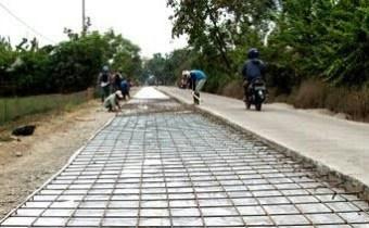 pembangunan jalan beton atau betonisasi jalan