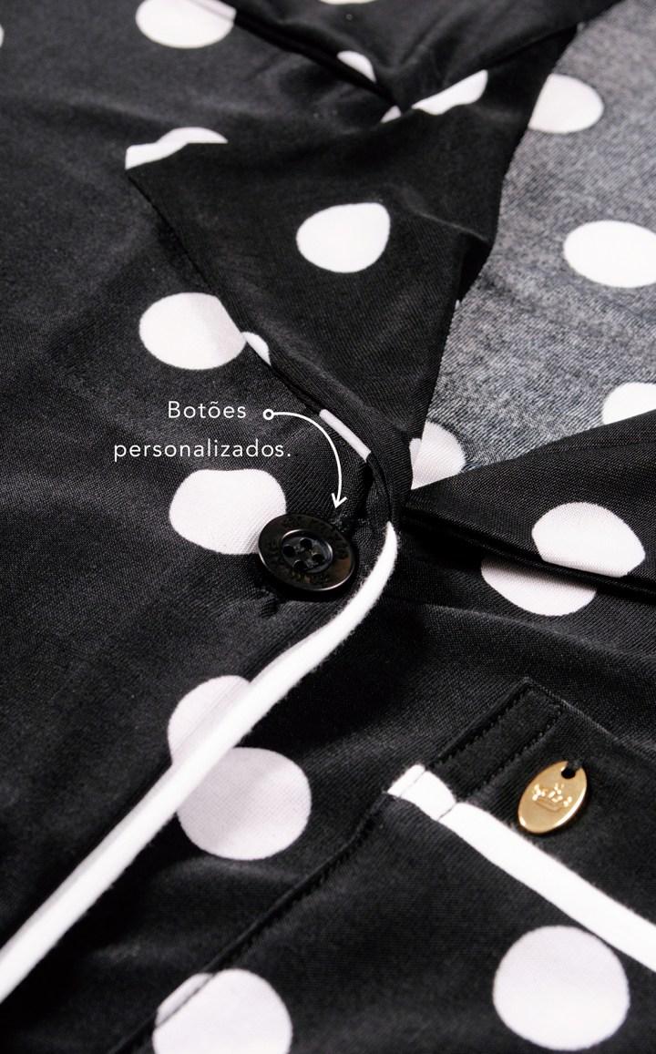 Pijama Cardigan com Short