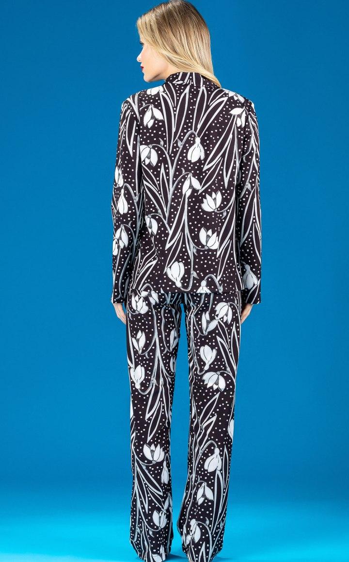 Premium — Pijama Cardigan Manga Longa com Calça