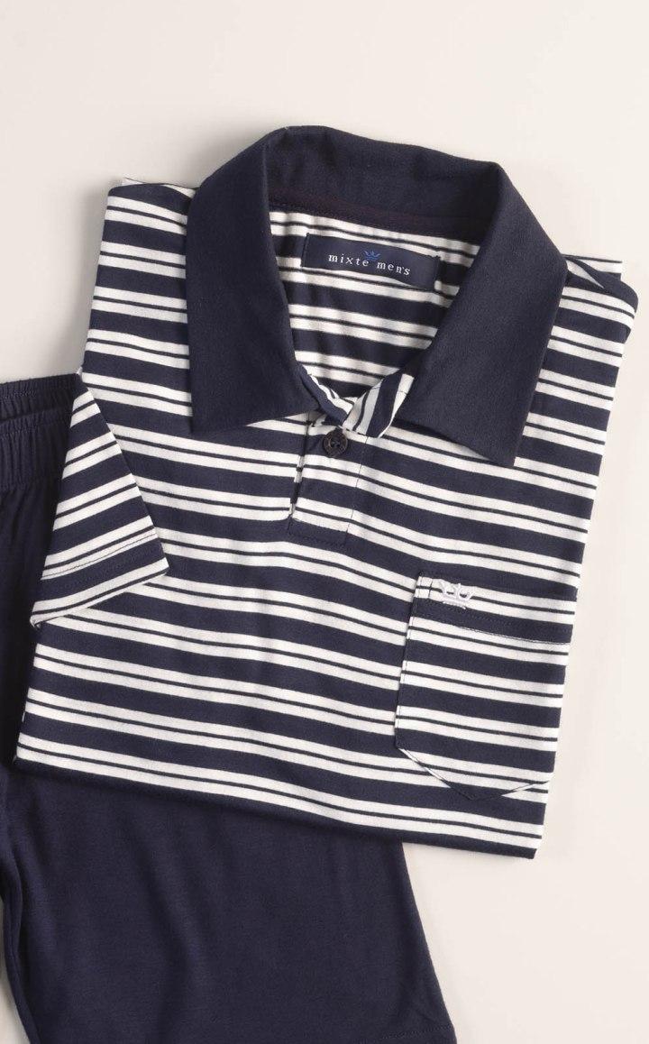 Pijama Blusa Manga Curta com Bermuda (Infantil)