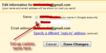 how to change your gmail address name