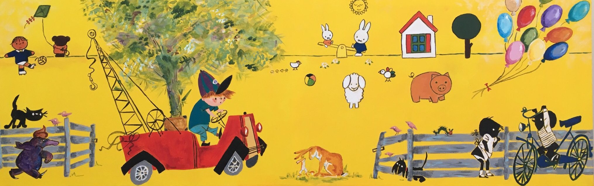 Kinderboeken - Verkocht Acryl op doek 40 x 100