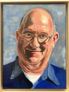 Portret In opdracht <br/> Acryl op doek 30 x 40
