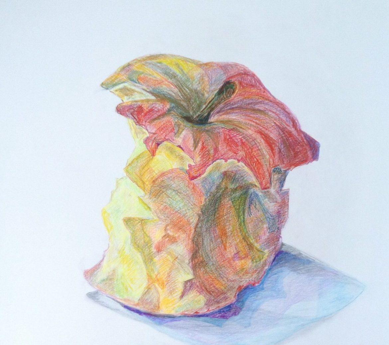 Appel Kleurpotlood op papier (70 x 90)