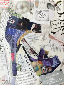Pump - € 25,- / Collage op Canvas 18 x 24