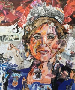 Queen of hearts - € 550,- / Collage op canvas 50 x 60