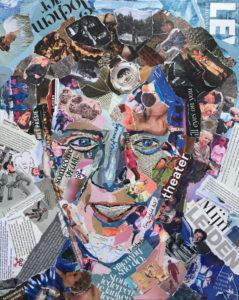 """""""Ik reken het goed"""" - €500,- / Collage op canvas 40 x 50"""