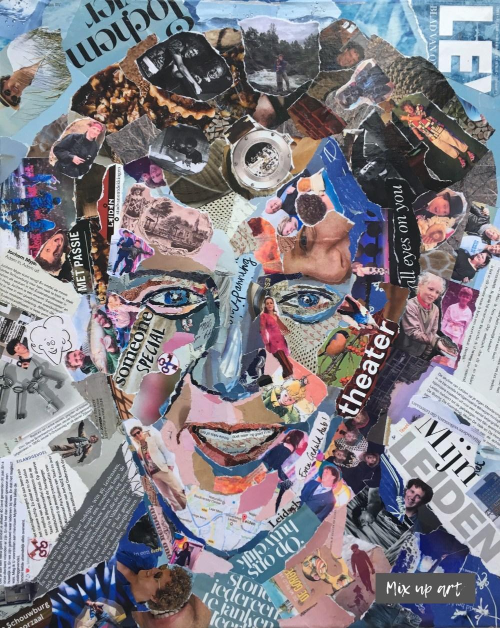 Ik reken 't goed (Jochem Myjer) - €500,- / Collage (40 x 50)