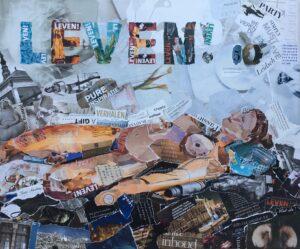 LEVEN! - in opdracht voor LEVEN! Magazine / Collage op canvas 40 x50