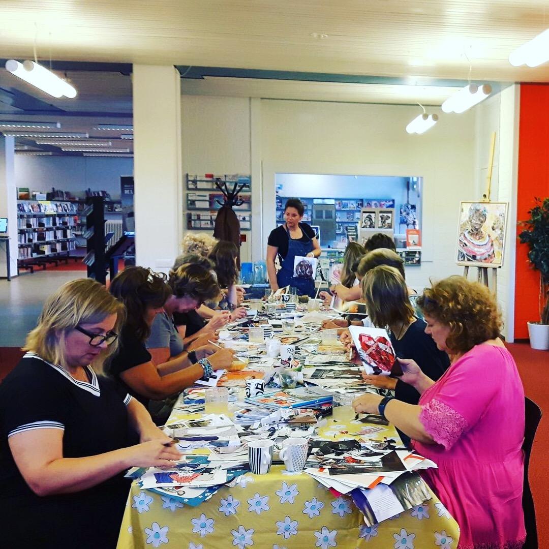 Workshop Collage maken in Bibliotheek Katwijk