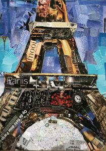 La Tour Eiffel - € 650,- / Collage op canvas 50 x 70