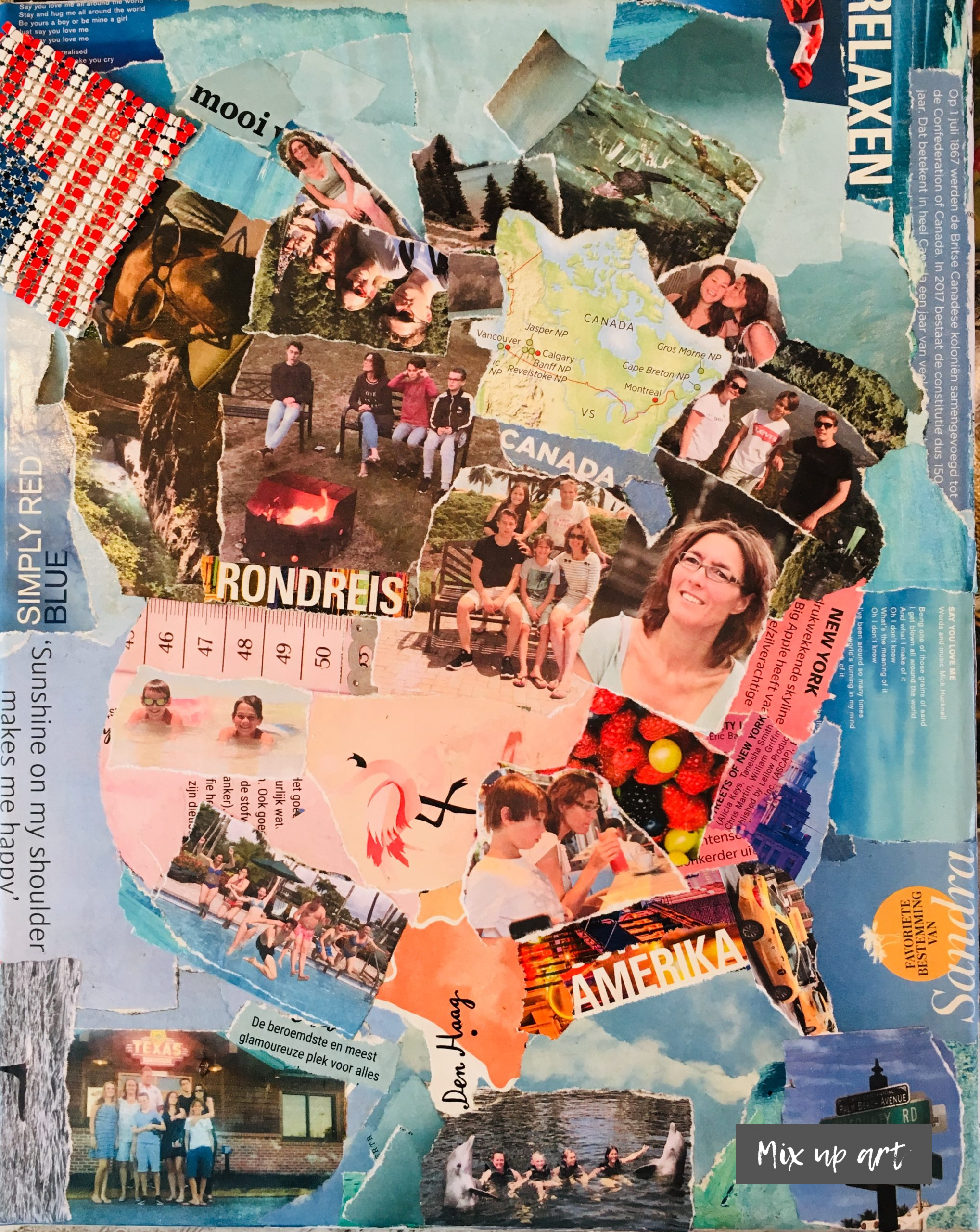 USA & Canada - In opdracht - Collage (24 x 30)