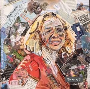 Irene - In opdracht - Collage (50 x 50)
