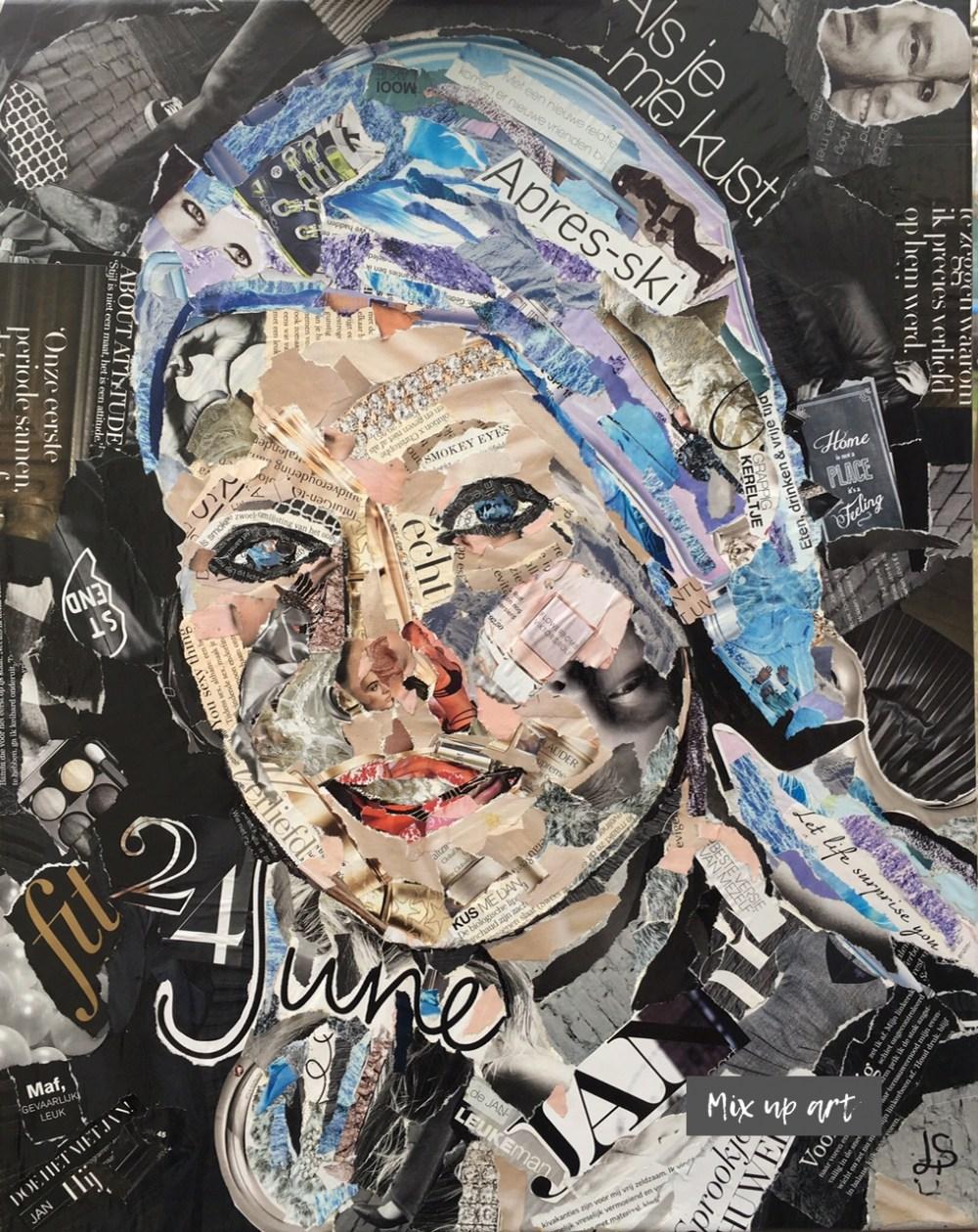 Nikolien - In opdracht - Collage (40 x 50)