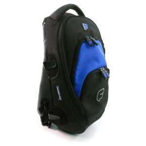 "Fusion Premium Medium ""Fuse-On"" Backpack, Black/Blue"