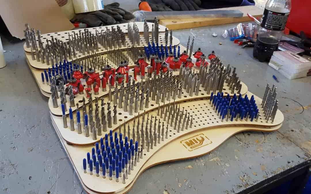 Laser cut milling bit organizer  MIY Makerspace