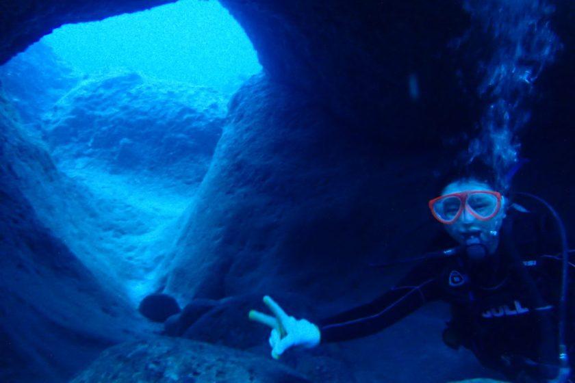 宮古島体験ダイビング 崖下 ハナダイの根
