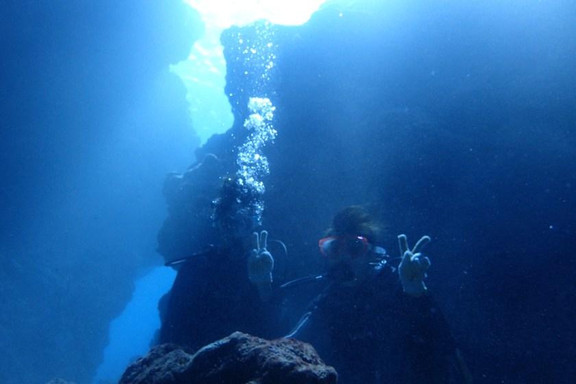 宮古島で地形体験ダイビング