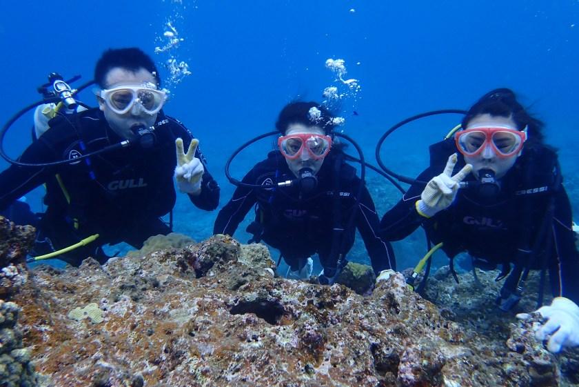 親子で宮古島で体験ダイビング