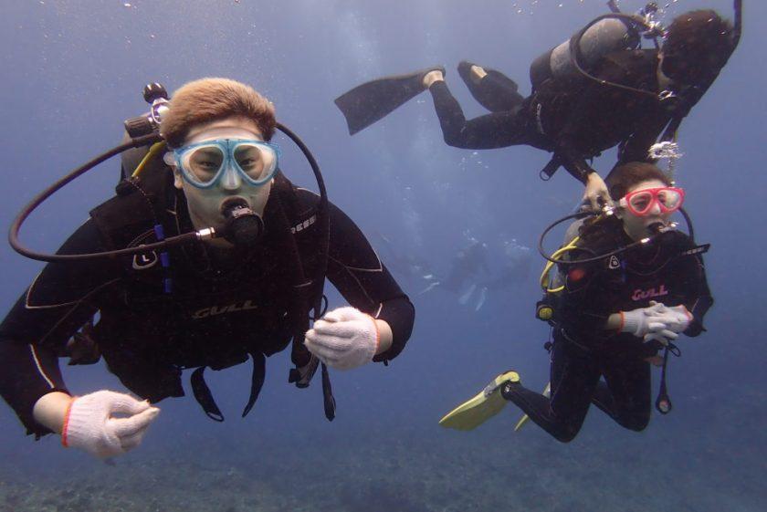 宮古島で親子で体験ダイビング