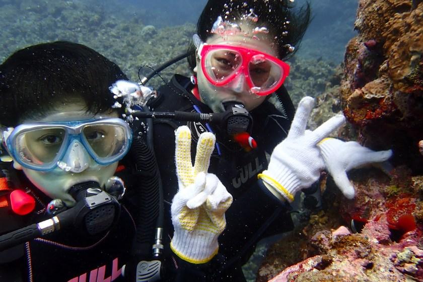 宮古島で叔母と一緒に体験ダイビング